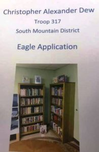 Christopher Dew Troup 312 South Mountain District Eagle Application Cover