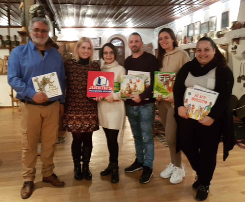 Judith's Reading Room Opens Library in Greece