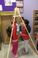 constructing a pyramid